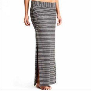ATHLETA Serafina Skirt Size XS Side Slit Ruched